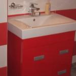 Ghiuveta in baie model alb cu rosu