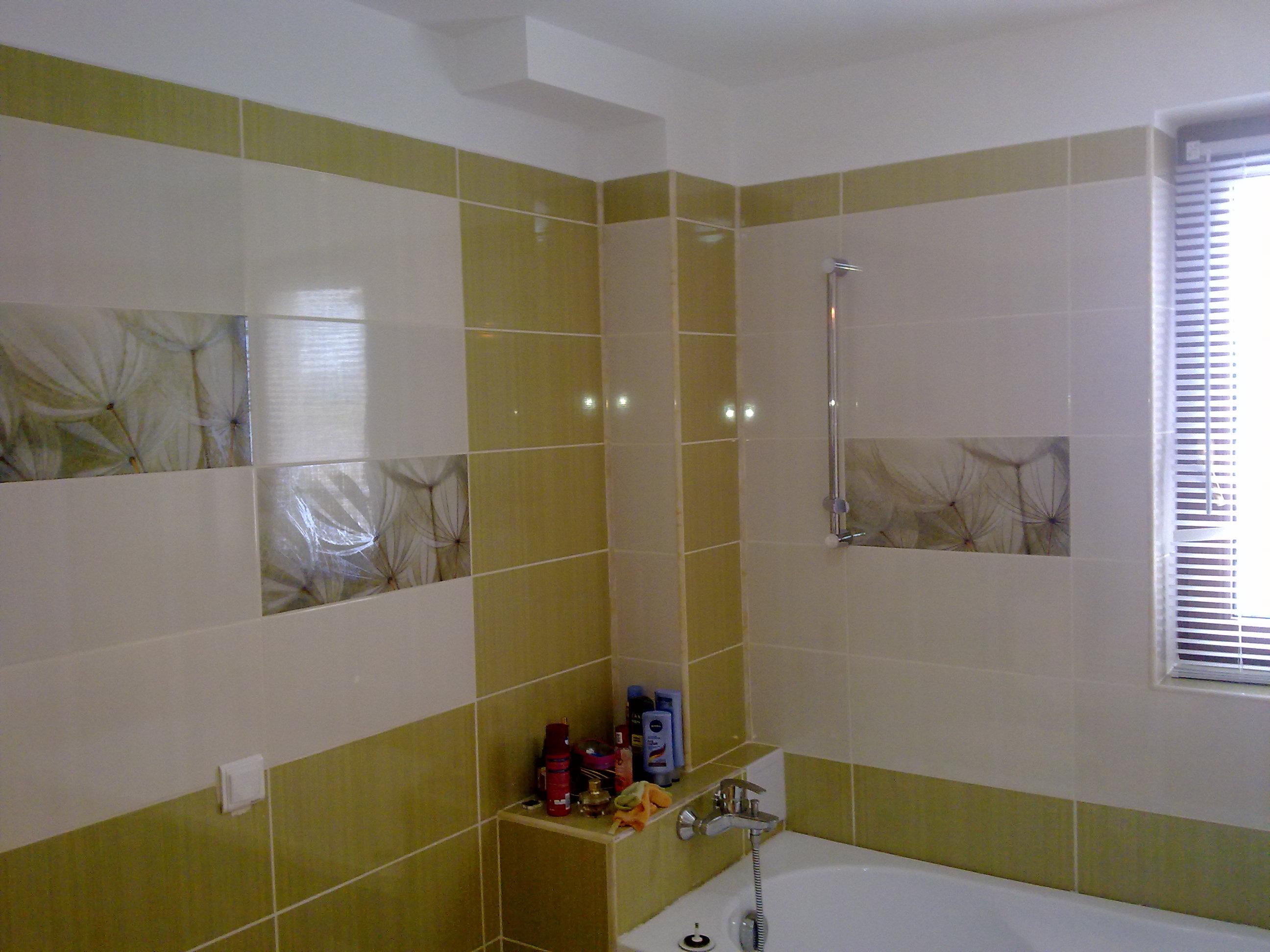 placare baie model alb cu verde