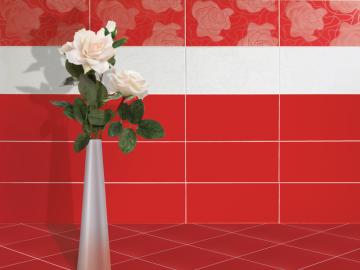 1 idei amenajari bucatarii rosii cu alb