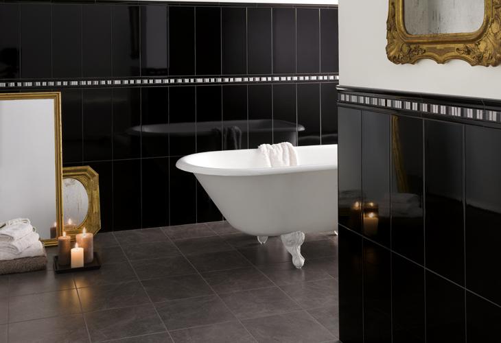 faianta model negru baie